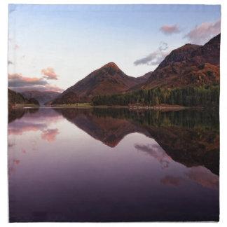 Sunset at Loch Leven, Scotland Napkin