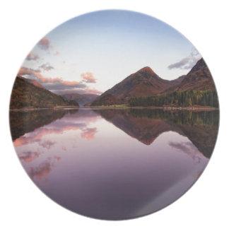 Sunset at Loch Leven, Scotland Plate