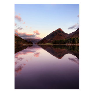 Sunset at Loch Leven, Scotland Postcard
