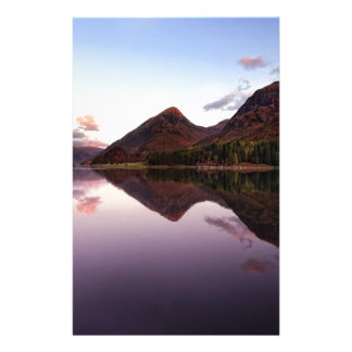 Sunset at Loch Leven, Scotland Stationery Design