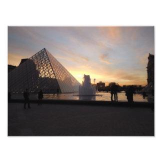 Sunset at Louvre Photograph