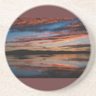 Sunset at Lower Klamath National Wildlife Refuge Coaster