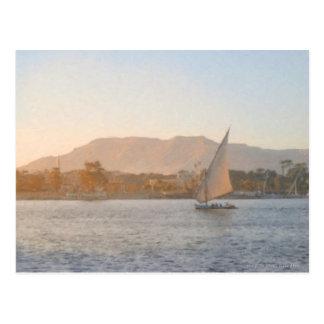 Sunset at Luxor Postcard