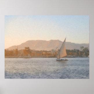 Sunset at Luxor Print