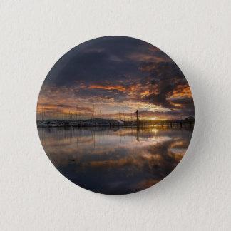 Sunset at Marina in Anacortes in Washington USA 2 Inch Round Button