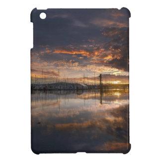 Sunset at Marina in Anacortes in Washington USA Cover For The iPad Mini