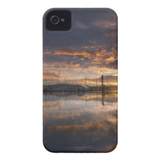 Sunset at Marina in Anacortes in Washington USA iPhone 4 Case-Mate Cases
