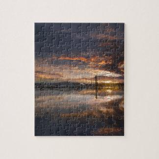 Sunset at Marina in Anacortes in Washington USA Jigsaw Puzzle