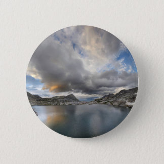 Sunset at Middle Nydiver Lake - Sierra 2 Inch Round Button