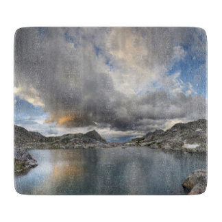 Sunset at Middle Nydiver Lake - Sierra Cutting Board