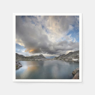 Sunset at Middle Nydiver Lake - Sierra Napkin