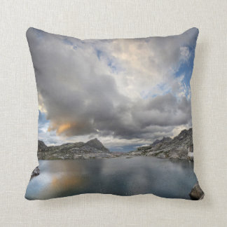 Sunset at Middle Nydiver Lake - Sierra Throw Pillow