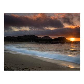 Sunset at Monastery Beach, Carmel, California, Postcard