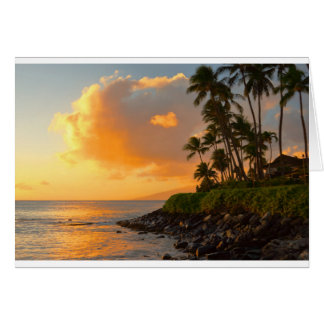 Sunset at Napili Beach, Maui Card