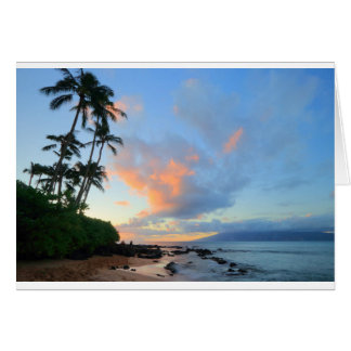 Sunset at Napili Beach, Maui Greeting Card