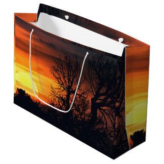 Sunset at Nature Landscape Large Gift Bag