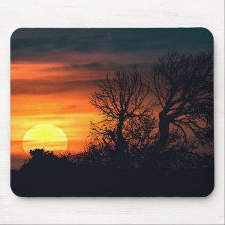 Sunset at Nature Landscape Scene Mouse Pad