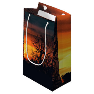 Sunset at Nature Landscape Small Gift Bag