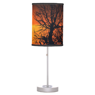 Sunset at Nature Landscape Table Lamp
