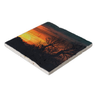 Sunset at Nature Landscape Trivet