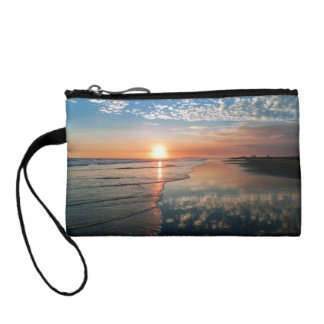 Sunset at Newport Beach, CA clutch cosmetic bag