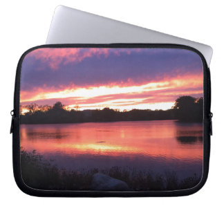 Sunset at Notre Dame Laptop Sleeve