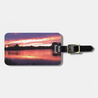 Sunset at Notre Dame Luggage Tag