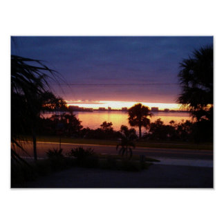 """""""Sunset at Old Clearwater Bay"""" poster"""