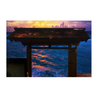 Sunset at Paradise Bay Acrylic Wall Art