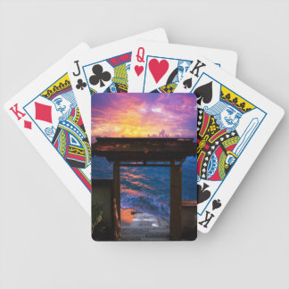 Sunset at Paradise Bay Bicycle Playing Cards
