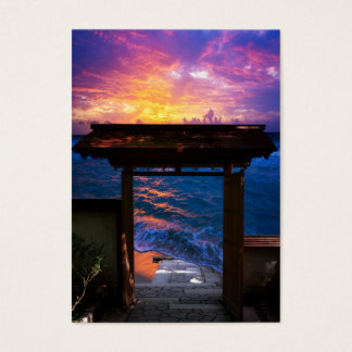 Sunset at Paradise Bay Business Card