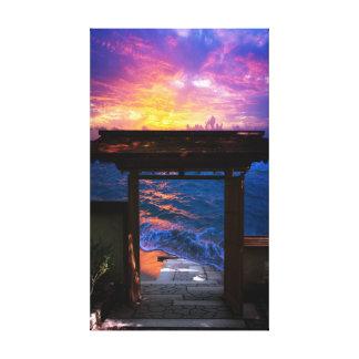 Sunset at Paradise Bay Canvas Print
