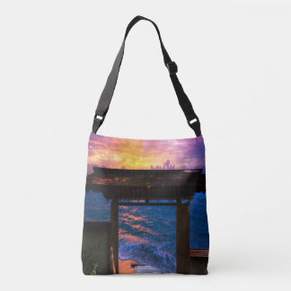 Sunset at Paradise Bay Crossbody Bag