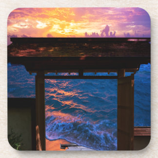 Sunset at Paradise Bay Drink Coasters
