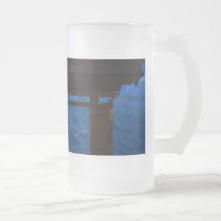 Sunset at Paradise Bay Frosted Glass Beer Mug