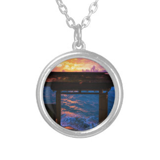 Sunset at Paradise Bay Silver Plated Necklace