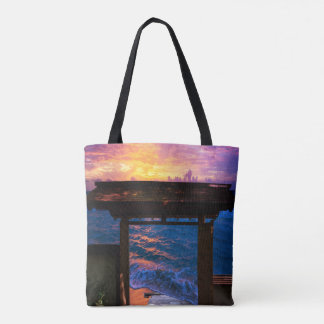 Sunset at Paradise Bay Tote Bag