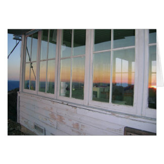Sunset at Pearsoll Peak Fire Lookout Card