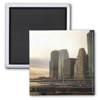 Sunset at Pier 17, South Street Seaport, New York Magnet
