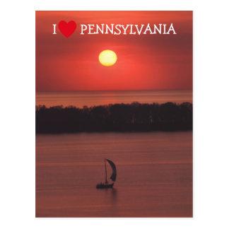 Sunset at Presque Isle Postcard