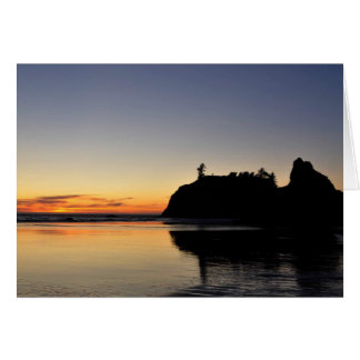 Sunset at Ruby Beach Card