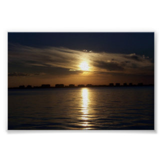 Sunset at Sarasota Bay Poster
