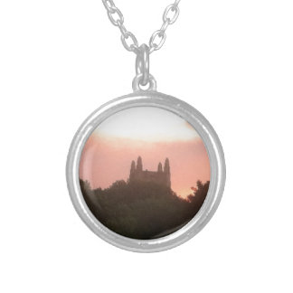 Sunset at Scarritt Silver Plated Necklace