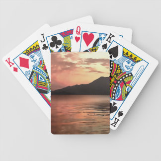 Sunset At Sea Bicycle Playing Cards