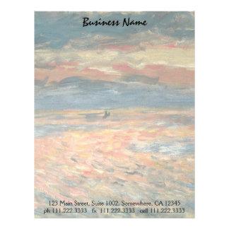 Sunset at Sea by Pierre Renoir, Vintage Fine Art Letterhead Design