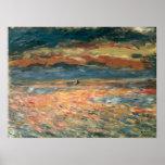 Sunset at Sea by Renoir, Vintage Impressionism Art