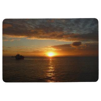 Sunset at Sea II Tropical Seascape Floor Mat