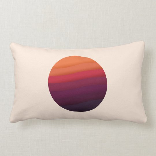 Sunset At Sea Lumbar Pillow