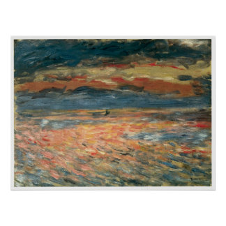Sunset at Sea, Pierre-Auguste Renoir Poster