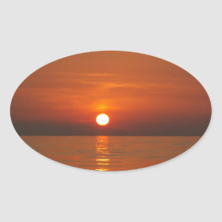 Sunset At Sea Stickers